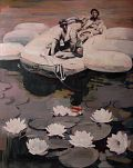 Waterflowers with Boat - Andrew Hollis 2009